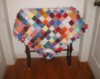 Mini baby boy or girl quilt-8