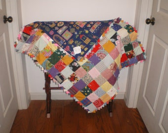 Mini Baby Boy or Girl Quilt-44