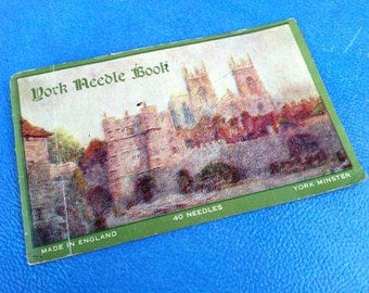 vintage sewing needle card made in england