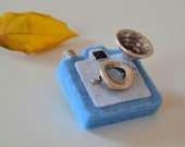 Blue Camera Brooch - Felt Brooch