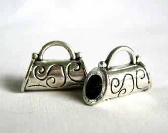 silver tone ornate bail 21mm - 2 bails