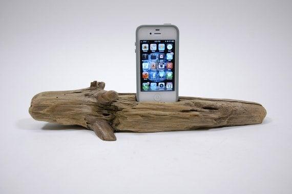 Driftwood iPhone Docking Station