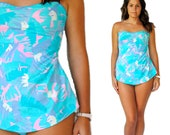 Vintage Swimsuit -- Retro Swim -- Vintage 1970s Teal Swimsuit -- Vintage Bathing Suit -- Spring Fashion -- Summer Fashion
