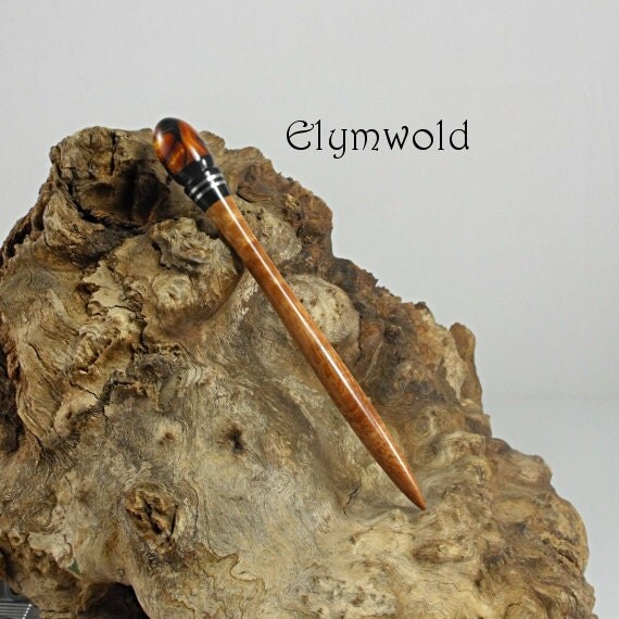 Hair stick - Handmade from maple and acrylic resin.