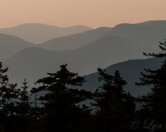 Kancamagus Sunset -  Nature photography, landscape photography, fall, autumn, fine art print, mountains, new england