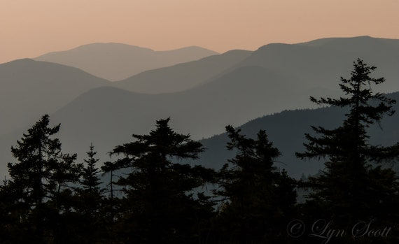 Kancamagus Sunset -  Nature photography, landscape photography, fall, autumn, fine art print, mountains, new england