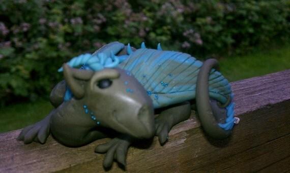 Ooak polymer clay dragon sculpture