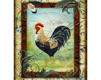 Rooster 8x10 Print