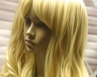 Harley Quinn SALE // 3 Piece Blonde Curly Wig with Two Curly Pony Tails Synthetic Hair