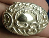 English Snuff Box 1898 Hallmarked Sterling Silver Repousse Pill Box Late Victorian