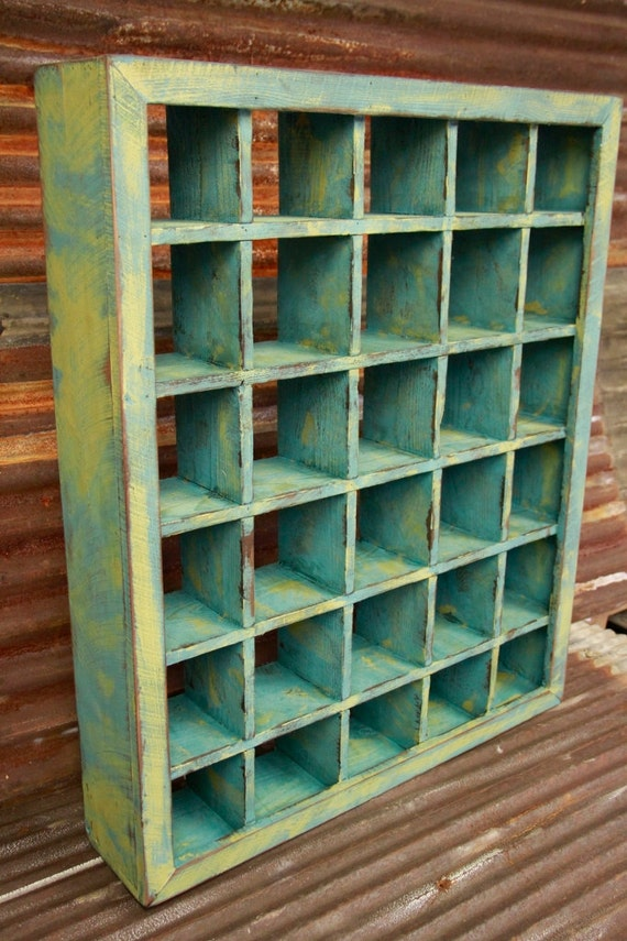 Large Primitive Shadow Box Primitive Wall Shelf Shabby Chic