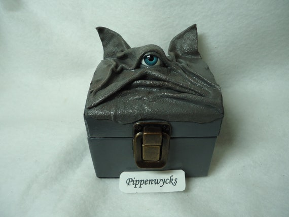 Wiccan Pagan Desk Organizer Creature Storage Leather Box