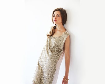 Glam mini dress , Sequined gold dress , Mini cocktail dress , Gold sequins short dress 1012