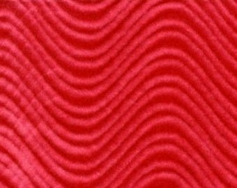 Velvet Flocking Swirl Red 58 Inch Fabric by the Yard