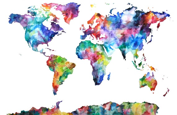 Custom World Map Painting for Victoria