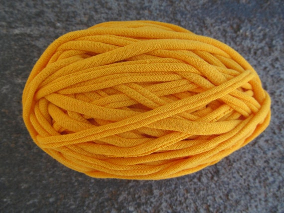T-Shirt Yarn Yellow Gold 35 Yards 4.5 WPI