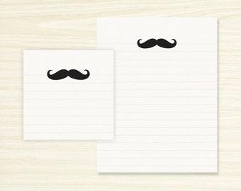 Note Pad Set - Mustache Note Pad & Sticky Note