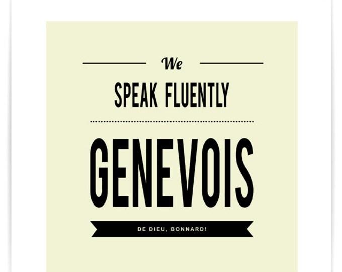 Poster We Speak Fluently Genevois