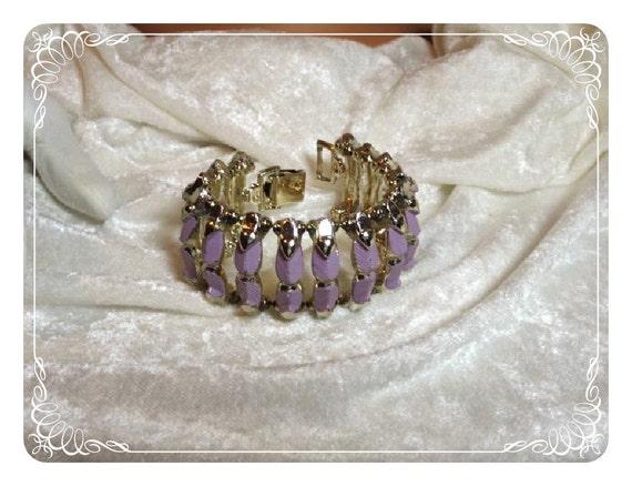 Wide Modernist Lavender Enamel Bracelet 1076ag-012312000