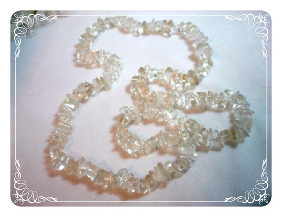 Strand of Glass Clear Crystal Beads   1202ag-012312000