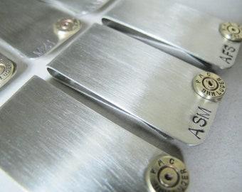 Bullet Money Clip Set - Personalized - groomsmen gift set