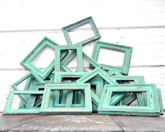 2 - 5x7 Aqua Mint Sweet Frame Set