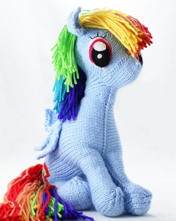 Rainbow Pegasus - MLP FIM Knitted Plush