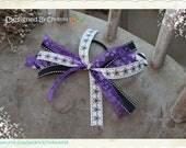 Spirit Bow Collection - Purple, White & Black Hair Scrunchy