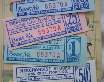 6 Nostalgic Antique Merchandise Tickets