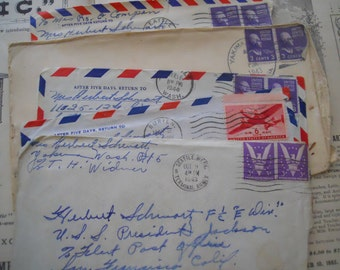 WWII Handwritten Love Letter from Wife to Husband