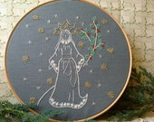 Ghost of Christmas Past - Embroidery Pattern PDF - Includes Color and Stitch Guide - Dickens - A Christmas Carol