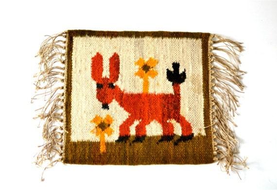 Vintage rug kelim kilim donkey whimsical safari carpet ethno tribal home decor decoration wall hanging