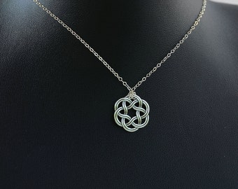 All Sterling Silver Celtic Necklace, Celtic jewelry, Celtic Knot,  minimalist jewelry, sterling jewelry
