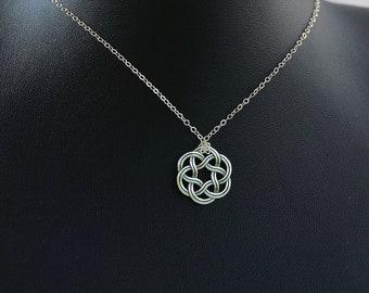 All Sterling Silver Celtic Necklace, Celtic jewelry, Celtic Knot,  minimalist jewelry, sterling jewelry