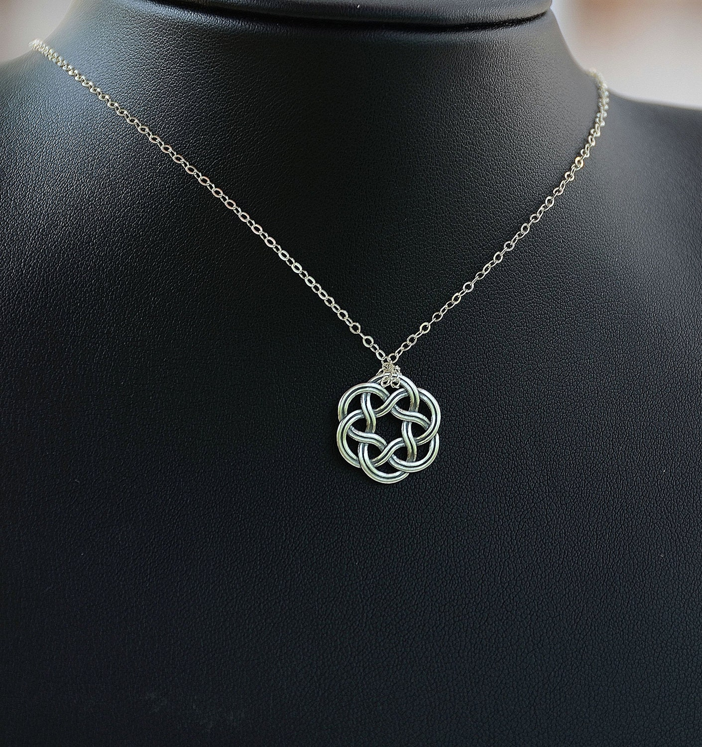 all sterling silver celtic necklace celtic jewelry celtic