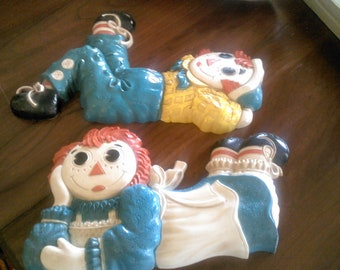 Vintage Raggedy Ann and Andy Wall Hangings