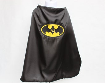 personalized Batman cape - Custom made for your little Superhero Infant Toddler Teen