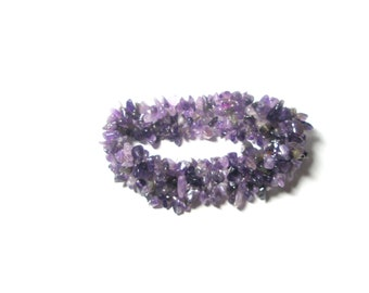 Vintage  Lavender Stretchable Bracelet For Her Under 20- Free Shipping- Free Gift With Purchase