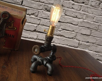 Edison Light  - Plumbing Pipe Lamp - Steam Punk Light - Mod Lamp - Steam Lamp