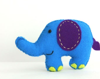 Felt Plushie Hand sewing Pattern PDF. Complete instructions to make Peanuts the Elephant. Instant download.
