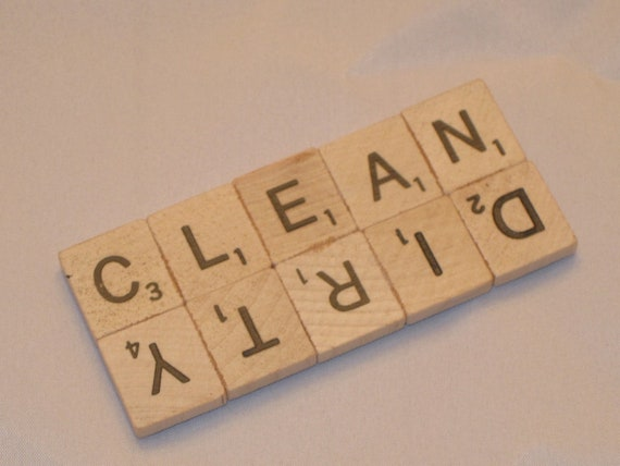 Scrabble Tile Clean Dirty Dishwasher Magnet - Super Edition