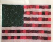 American Flag Rag Quilt Pattern - Paper