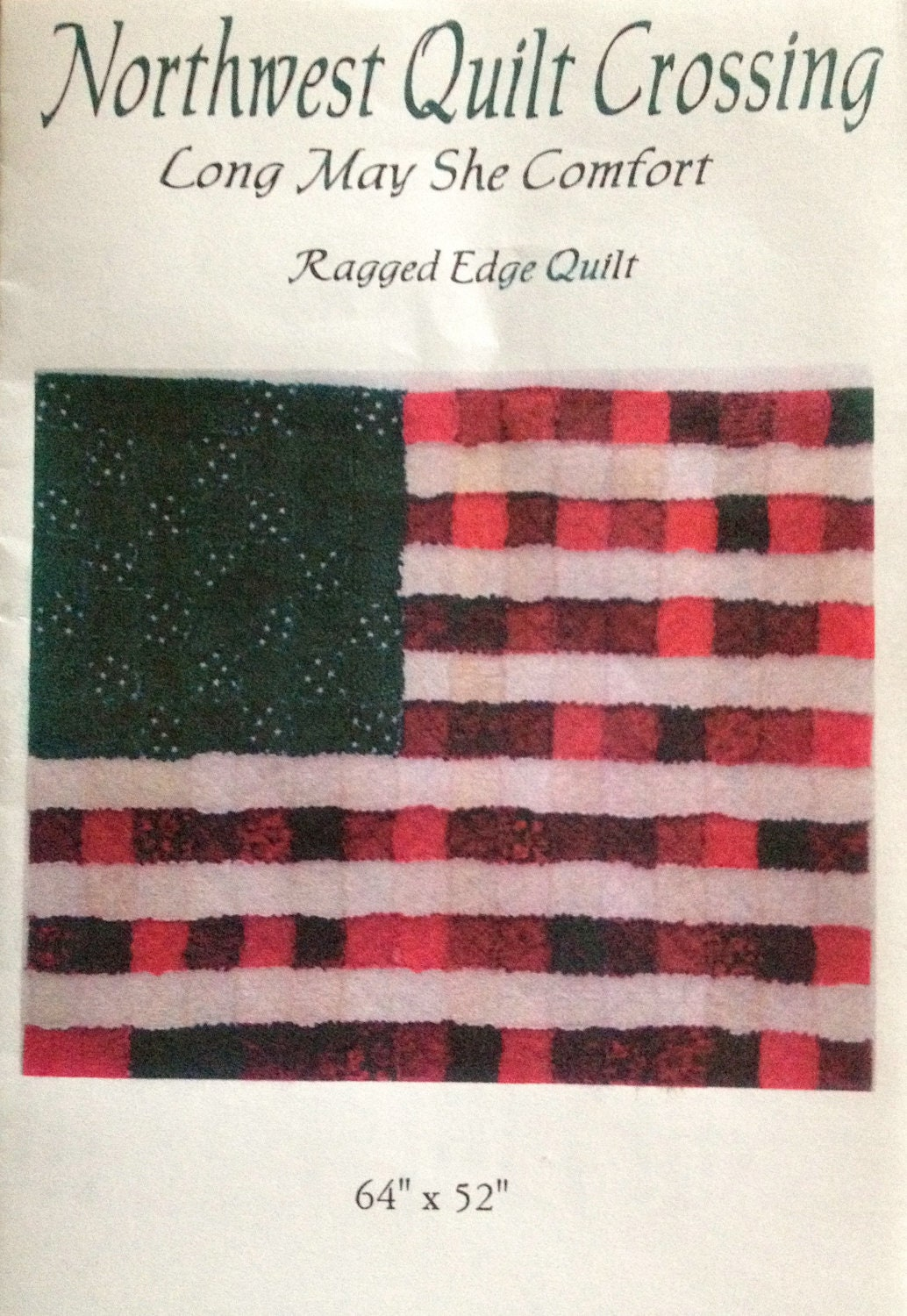 American Flag Rag Quilt Pattern Paper By Heatherspencedesigns