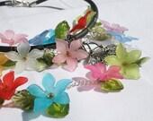 Summer Flowers collar statement necklace