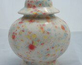 Lidded Ginger Jar Glazed in Kaleidoscope Glaze
