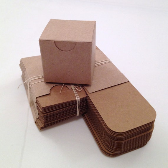 wedding favor boxes diy small kraft gift box set of 25 2x2x2 size