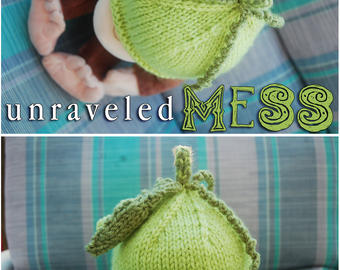 Little Knit Pea Pod Beanie, newborn - 3 months