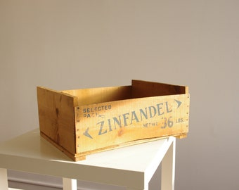 Vintage Wooden Zinfandel Crate