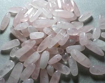 Light Pink Rose Quartz Tooth Nugget Beads 5mm - 20mm
