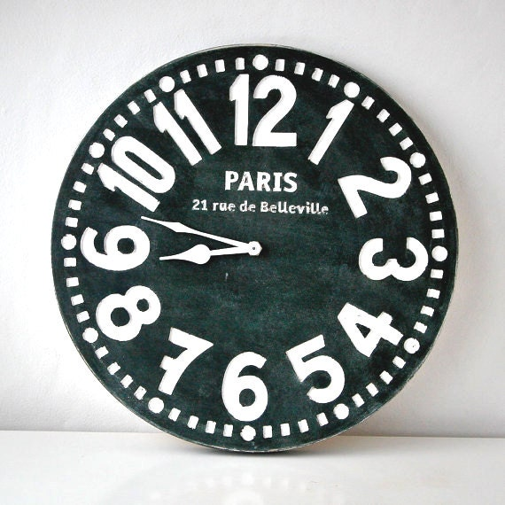 Wooden handmade wall clock -Paris- cottage style // perfect housewarming graduation wedding gift with customisation / FREE SHIPPING WORDWIDE
